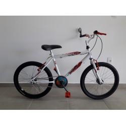 Bicicleta aro 20 mtb ravena branca bike mania