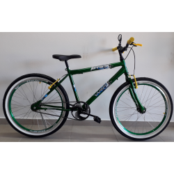 bicicleta aro 24 mtb ferrara s/marcha verde bike mania