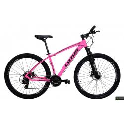 Bicicleta aro 29 T19 21.v Freio Disco rosa  Lotus