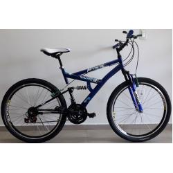 Bicicleta aro 26 full 21marchas Azul com preto