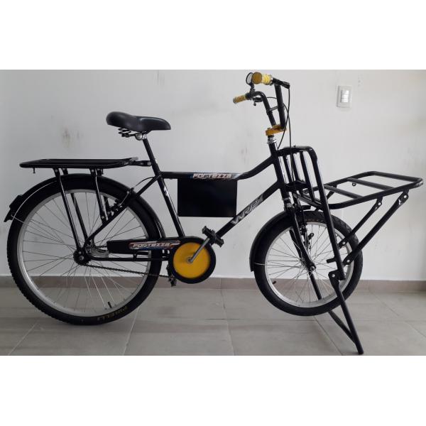 bicicleta aro 26 cargueira fortezza preta wrp mania