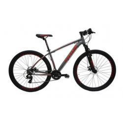 Bicicleta aro 29 T17.5 21.v Freio Disco cinza/verm Lotus