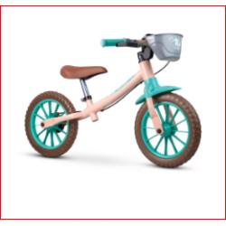 Bicicleta de equilíbrio aro 12 balance vermelha amarelo nathor
