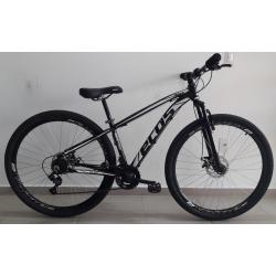 bicicleta aro 29 t15.5 21v Freio Diaso onix preta/branco ecos mania