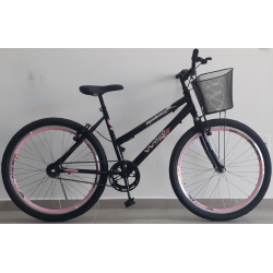bicicleta aro 24 mtb modena s/marcha preta brilhante mania