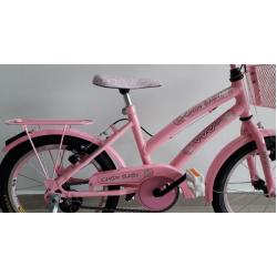 bicicleta aro 16 cindy baby rosa brilhante