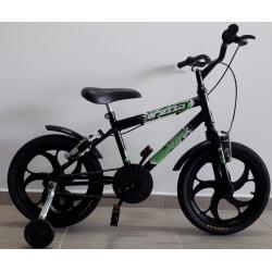bicicleta aro 16 mtb arezzo preta bike mania