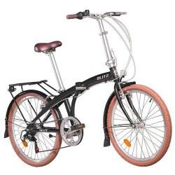 Bicicleta Aro 24 Dobrável Blitz Fit 6 Velocidades Preta