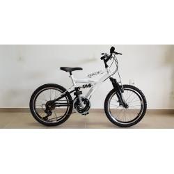 Bicicleta Masculina Aro 20 Wendy Full Suspension Branca 18 Velocidades