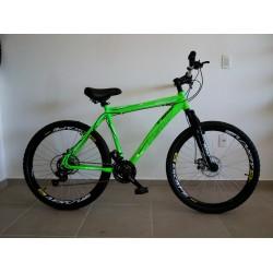 Bicicleta Aro 26 TSW AT5.0 Cross Country Alumínio Verde 21 Velocidades