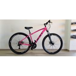 Bicicleta Aro 29 WNY Alumínio 21 Velocidades Rosa Neon