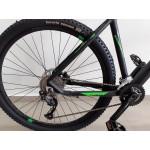 bicicleta aro 29 t19 2x9v Freio disco macropus 2019 preta/verde redestone