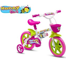 Bicicleta Infantil Feminina Aro 12 Honey Girl Nathor