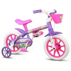 Bicicleta Infantil Feminina Aro 12 Violet Nathor