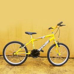 Bicicleta Infanto Juvenil Masculina Wendy Carbon Steel Aro 20 Amarela