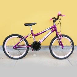 Bicicleta Infanto juvenil Feminina Wendy Femme Aro 20 Violeta