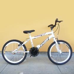 Bicicleta Infanto Juvenil Masculina Wendy Carbon Steel Aro 20 Branca