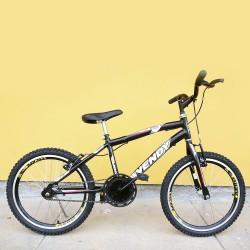 Bicicleta Infanto Juvenil Masculina Wendy Carbon Steel Aro 20 Preta